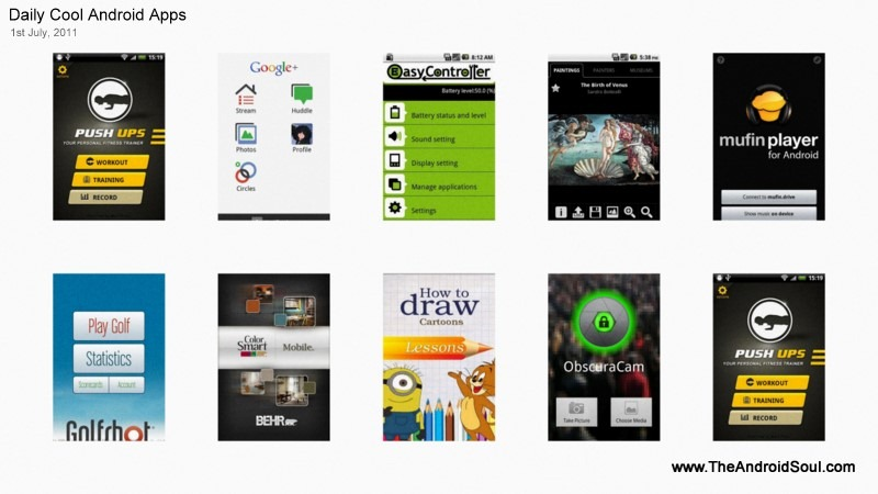 Daily Cool Android Apps 1st July 2011