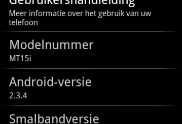 Update for Xperia Neo