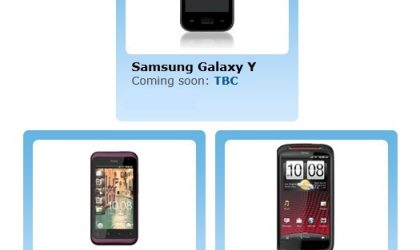 O2 Website Lists HTC Sensation XE, HTC Rhyme and Samsung Galaxy Y