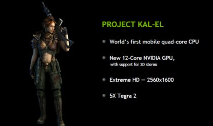 Nvidia Kal-El Quad-Core Processor Whitepaper Released