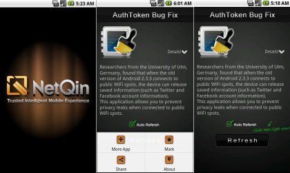 Secure your login info when connecting to public Wi-Fi hotspots using 'Bug Fix – AuthoToken ' Android app
