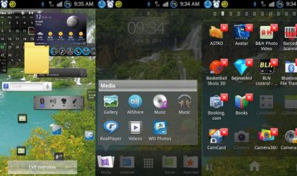 Xperia Arc's Launcher App Customized for Galaxy S2