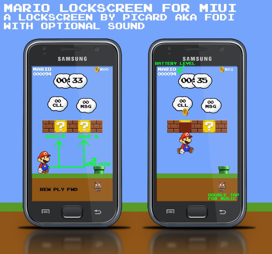 Mario Lock Screen Miui Mario Lock Screen