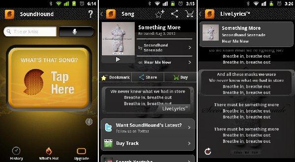 SoundHound - 5 Aplikasi Android Untuk Mendengar Musik Yang Mengiringi Hari Hari Anda