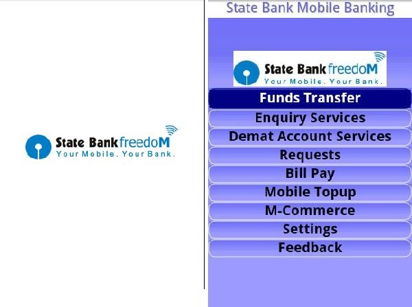 State Bank of India Android app