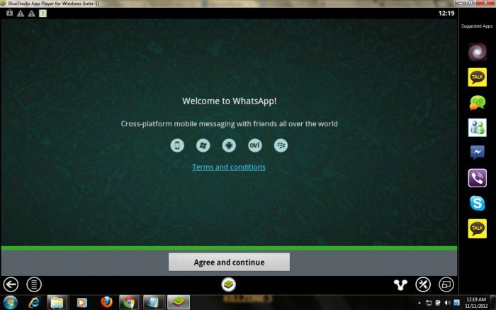 Whatsapp welcome screen