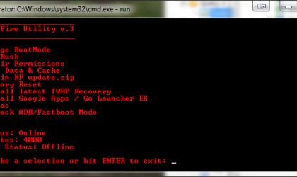 Kindle Fire Utility for Rooting, Updating and Installing TWRP Recovery on Your Kindle Fire