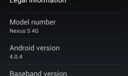 IMM26 — Android 4.0.4 for Nexus S [Ice Cream Sandwich Official Update]