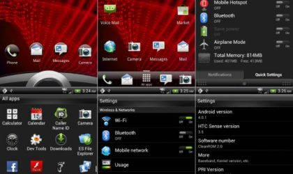 Install Ice Cream Sandwich Rom on HTC Rezound — CleanROM [Android 4.0]