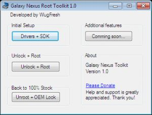 Root and Unroot (and Unlock and Relock Bootloader of) Galaxy Nexus with this Root Toolkit by WugFresh