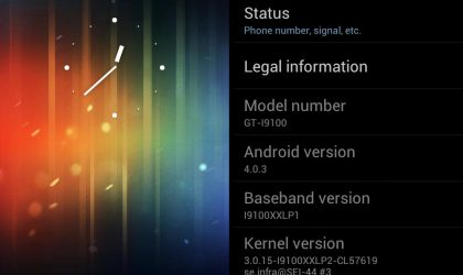 Pure ICS ROM Android 4.0.3 for Galaxy S2 I9100
