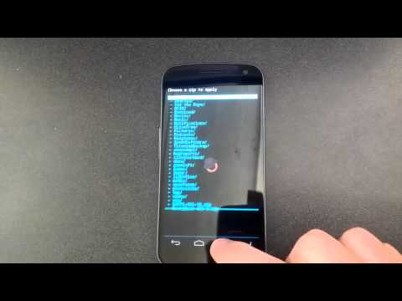 Install Touch Based Clockworkmod (CWM) Recovery on Galaxy Nexus