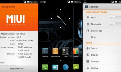 Galaxy S2 Gets Another MIUI v4 Rom based on Ice Cream Sandwich