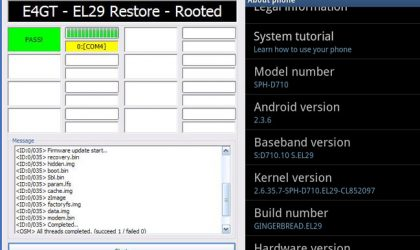 Restore Epic 4G Touch Back to Stock Rom with Root!!