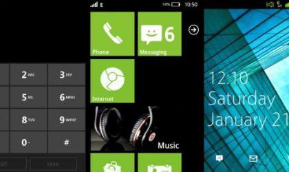 Galaxy Ace Custom ROM with Windows Phone 7 UI