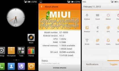 Galaxy S MIUI 4 Custom ROM — Asnet MIUI v4