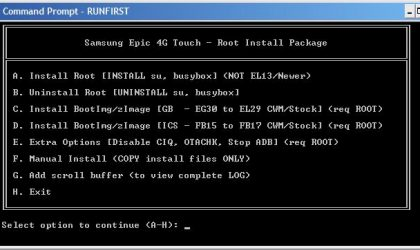 Clockworkmod Recovery for Epic 4G Touch EL29 Firmware