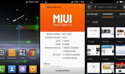 MIUI 4 for Samsung Fascinate — Install Instructions