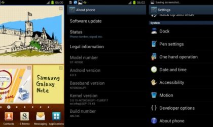 XXLP1 ICS Firmware Leaked for Galaxy Note [Android 4.0.3]