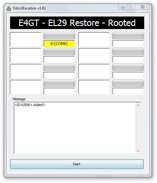 Odin3Excution_v1.81 Start Screen