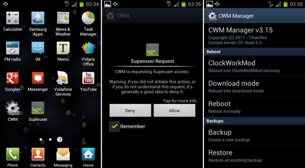 Root Galaxy S Blaze 4G with Odin Root XXLPJ Galaxy S2 Firmware, Based