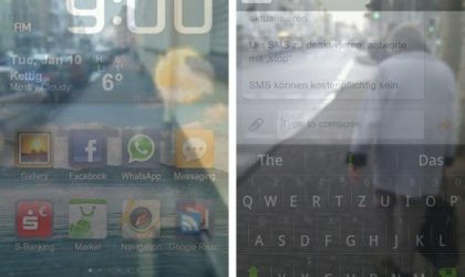 Watch Your Step While Using Your Phone with Transparent Screen for Android
