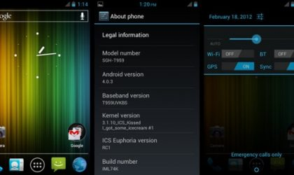 Android 4.0 AOKP ROM for Samsung Vibrant — ICS Euphoria RC1