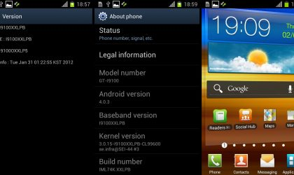 XXLPB — Another Android 4.0.3 Firmware Leaks for Galaxy S2 i9100