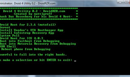 Motorola Droid 4 Utility Tool: Install Root, Safestrap Recovery, etc.