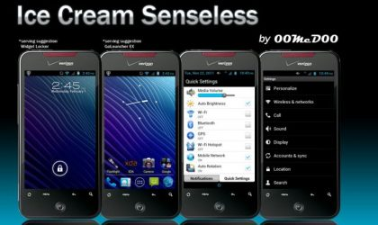 IceCream Senseless for Droid Incredible — A Gingerbread Based ICS Themed Custom Rom Without Sense UI