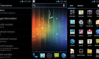 Install Android 4.0 on Galaxy S2 with Thebyani Rom with ICS Launcher in Place of Touchwiz
