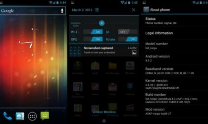 AOKP Ice Cream Sandwich ROM for Droid Bionic