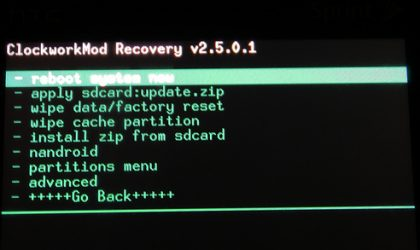 Touch CWM Recovery for Droid Incredible