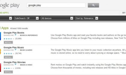 Check Out Applications From Google Play Store: The Google Play Books, Google Play Music and Google Play Movies