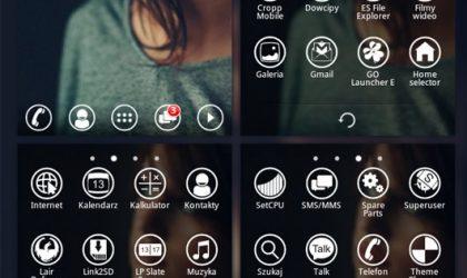 Minimal Windows Phone 7 Theme for Go Launcher EX