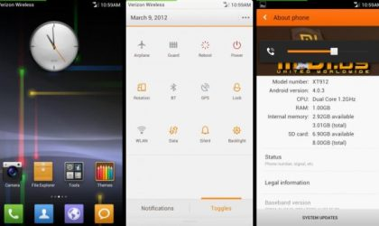 MIUI 4 for Droid Razr is Out as Alpha Version. Supports Both Verizon CDMA and Global GSM Versions