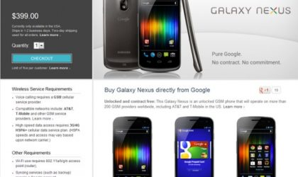 Unlocked and Contract-Free Galaxy Nexus Available in Play Store for just $399!