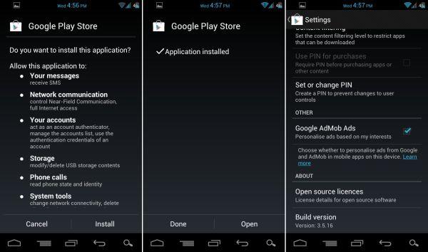 ����� ���� ������ ��������� Google Play ��� ������� 3.5.16   ����� �������