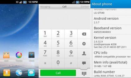 Install LeWa OS on LG Optimus GT540