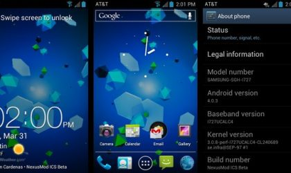 NexusMod Brings Android 4.0 ICS to AT&T Skyrocket with AOSP Look and Feel