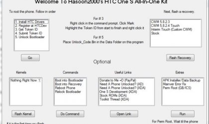 HTC One S Toolkit — Helps You Fix One S and Apply Hacks for Noobs