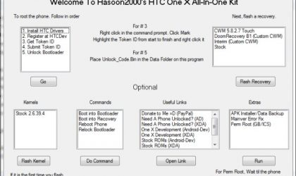 HTC One X Toolkit — Fixes One X and Does All Hacks for Noobs!