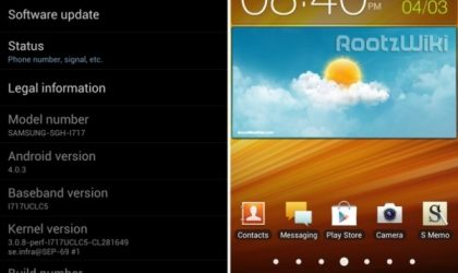 UCLC5 Ice Cream Sandwich Update for AT&T Galaxy Note Leaked