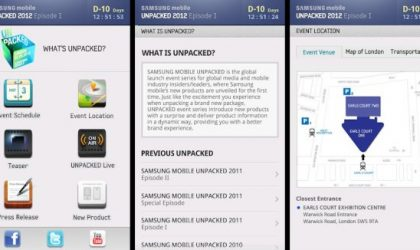 Keep Track of Galaxy S3 Things with Samsung Mobile Unpacked 2012 App