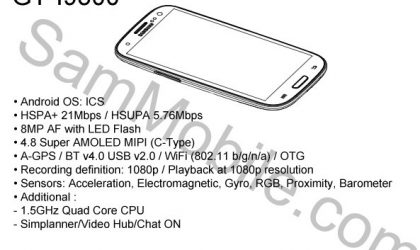 Official Galaxy S3 Leaked Via a Service Manual of i9300?