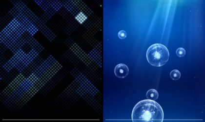 Galaxy S3 Live Wallpapers: Deep Sea and Luminous Dots