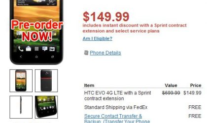 HTC Evo 4G LTE Priced $150 at Wirefly. $700 for Unlocked!