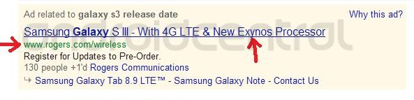 North American Galaxy S3 might feature Exynos Process and LTE Support