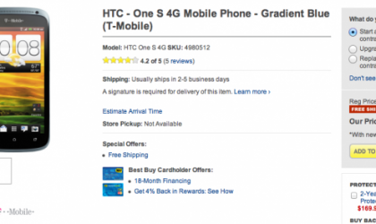 Best Buy Deal: HTC One S Price Reduced to $99