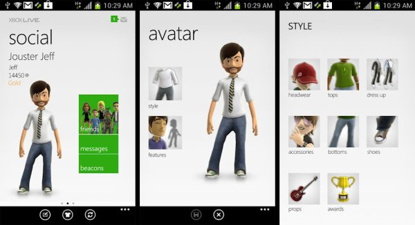my xbox live android app from microsoft now available in